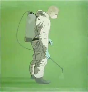 1.  Wilson Díaz. Fumigar, acrílico sobre tela, 2006.