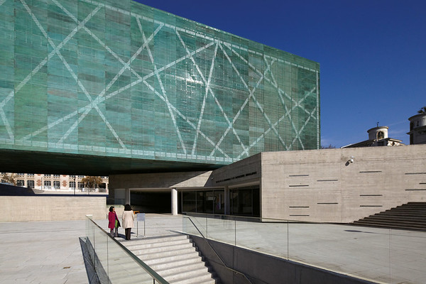 Shown here is an external view of the entrance to the memorial La geometria de la conciencia (The Geometry of Consciousness) (Courtesy Alfredo Jaar Studio)