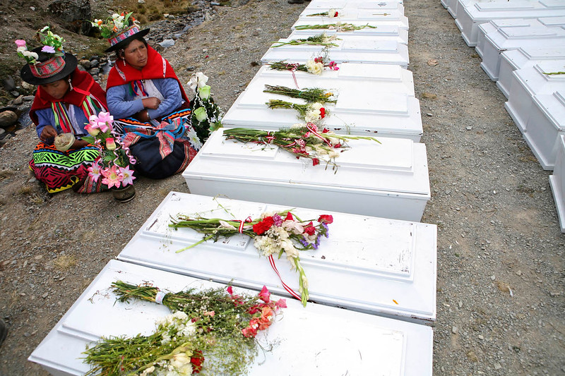La Comisión de la Verdad y Reconciliación (CVR) estipuló la existencia de 123 víctimas en las fosas, aunque solo se recuperaron 92 cadáveres. / The Truth and Reconciliation Commission (TRC) estimated the existence of 123 victims in the graves, although only 92 corpses were recuperated.   foto: Marina García Burgos