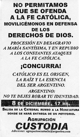 Flier for a protest against the exhibition
