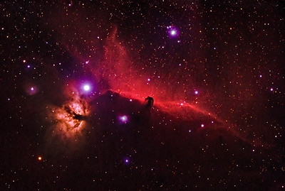 Horsehead and Flame Nebula in HaRGB