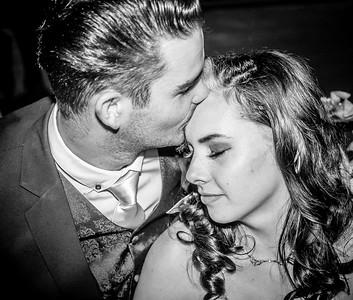 Paul & Emma a wedding bash in B&W