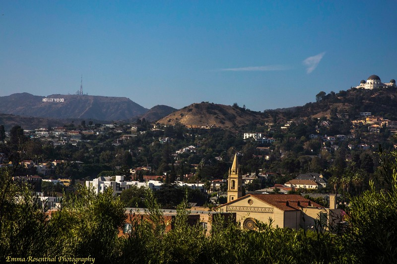 Barnsdall Art Park : Between the Observatory and the Hollywood Sign #2 As seen from Barnsdall Art Park