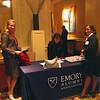Laura Weekley, Kat Kedrick 89B, and Margo McClinton 98C set up registration.