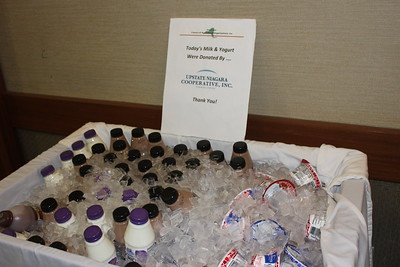 Milk and Yogurt donated by Upstate Niagara Coop. Inc., THANK YOU VERY MUCH!