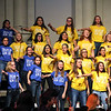Choir students perform.
