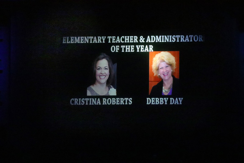 Photo showing the Teacher and Administrator of the Year.