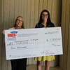 Harwood Junior High with check from Education Foundation.