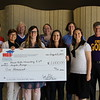 Hurst Hills Elementary with check from Education Foundation.