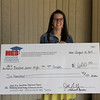 Bedford Junior High with check from Education Foundation.