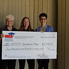 HEB ISD Homebound Department with check from Education Foundation.