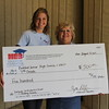 Bedford Junior High with their check from Education Foundation.