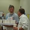 Superintendent Steve Chapman talks to administrator.
