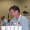 Superintendent Steve Chapman passes out drinks.
