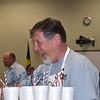 Superintendent Steve Chapman passes out drinks.