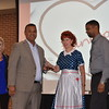 District administrators receive awards.