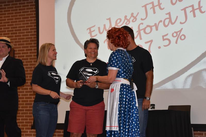 District administrators receive awards.