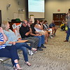 School administrators play the Newlywed Game.