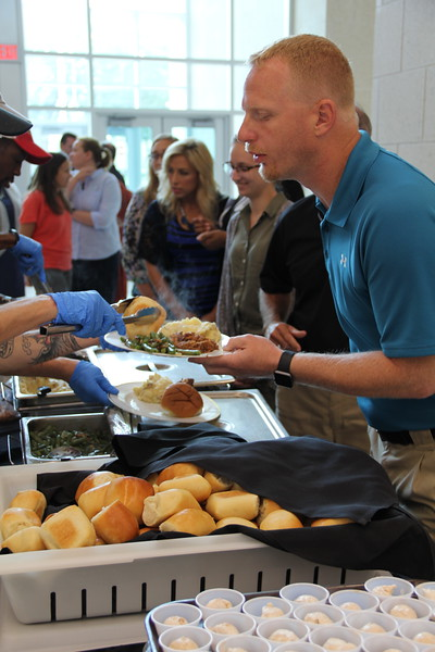New employees receive lunch.