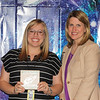 Harrison Lane Elementary Teacher of the Year Stacy Hasse with principal Kathleen Harrell