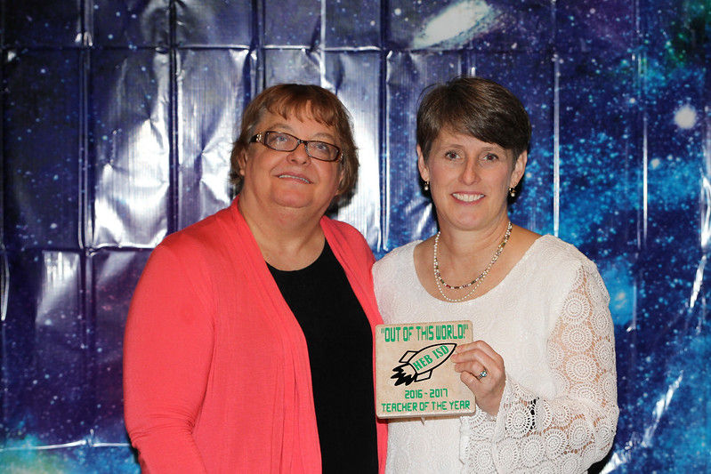 Donna Park Elementary Teacher of the Year Kirsten Smith with principal Sharon Wynn