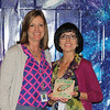 Shady Oaks Elementary Teacher of the Year Silvia Oropeza with principal Darla Clark