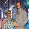 Hurst Junior High Teacher of the Year Adam Bean with principal Liz Russo