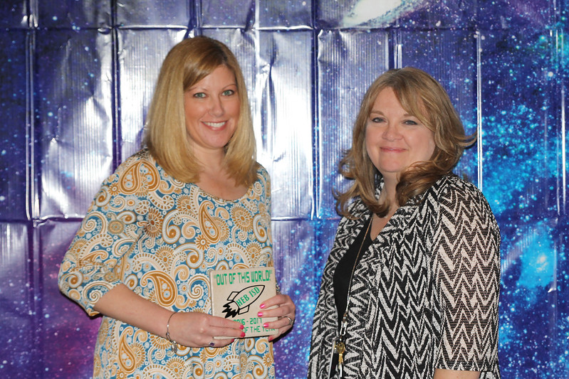 Stonegate Elementary Teacher of the Year Angela Stillwell with principal Gena Jackson
