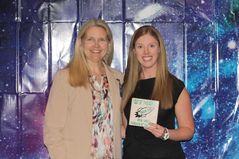 North Euless Elementary Teacher of the Year Kari Steward with principal Melissa Meadows