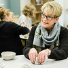 Head of School Christie Stover works on a ceramic bowl during the Empty Bowls event at the Applewild School on Thursday evening. In conjunction with the United Neighbors of Fitchburg, the school is striving to craft up to 1,000 clay bowls. SENTINEL & ENTERPRISE / Ashley Green