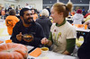 DAVID LACHANCE — BENNINGTON BANNER<br /> Adi Kang and Sarah Fadem, members of the Bennington College Student Union, enjoy their meal.
