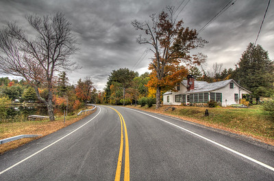 Route 9, Pottersville, New York, USA