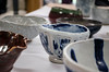 Some of the bowls that will be used at the Empty Bowls supper are on display.<br /> DAVID LACHANCE - BENNINGTON BANNER