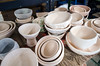 Completed bowls wait to be glazed and fired. The Bennington College ceramics studio will turn out 750 bowls for this year's Empty Bowls supper.<br /> DAVID LACHANCE - BENNINGTON BANNER