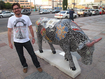 2011.08.31 Dave and Moo-saic the Cow