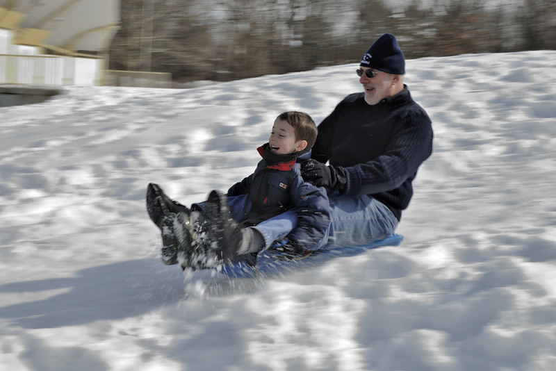 Sledding With Grandpa