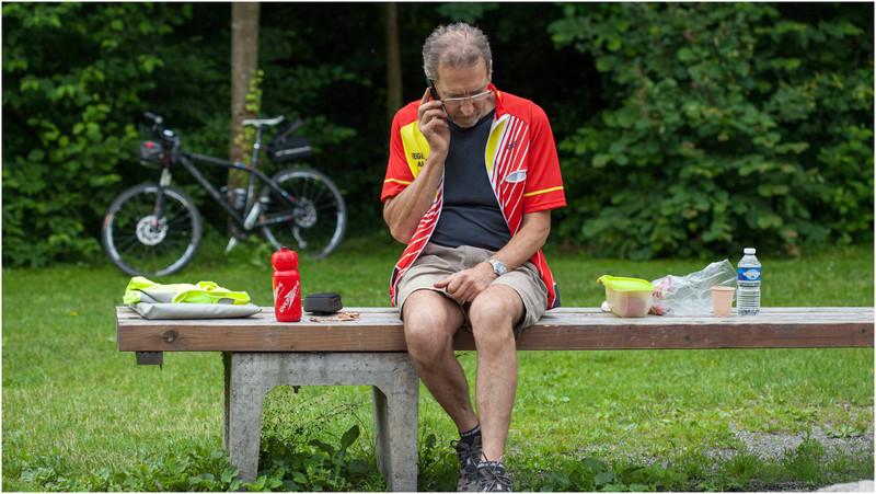 Patrick, accompagnateur, membre de l'association cycliste de Fegersheim.