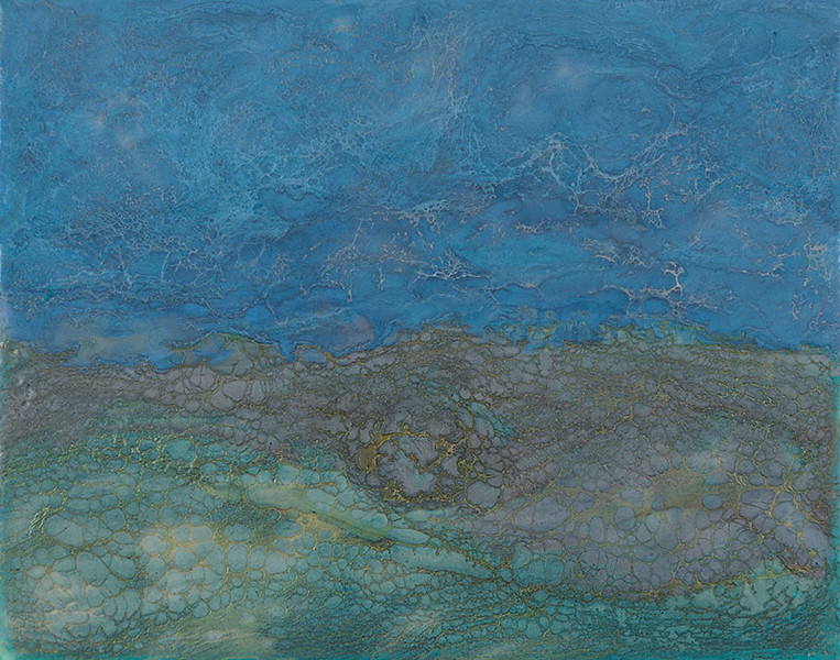 Silver Blue Tides 10x8