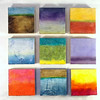 Color Squared<br /> 17.5 x 17.5<br /> 9 Panel Encaustic