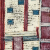 Quilt Series-Bee Work- Americana #2, 9x12