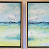Seaside Morning Dictych, 48x12
