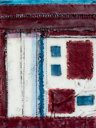 Quilt Series-Bee Work- Americana #4, 9x12