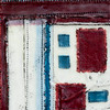 Quilt Series-Bee Work- Americana #4, 9x12