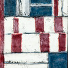 Quilt Series-Bee Work- Americana #3 , 9x12