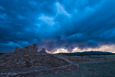 Storm At Abo Ruins, New Mexico