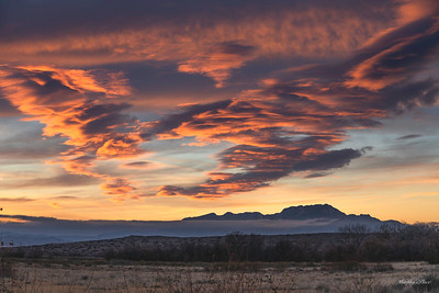 Sunset over The Thieve's Mountains. Sierra Ladrones