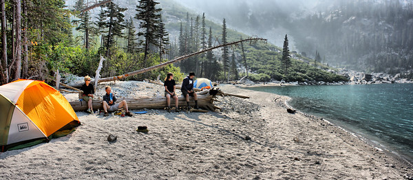 Beach at Colchuck - Fires Haze - August 2015 - Pre Aasgard Pass