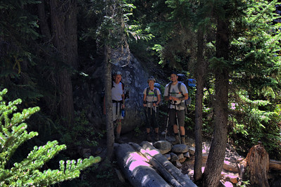Arnie, Elaine, Jake - Bridge Traverse - August 2015 - Enchantments
