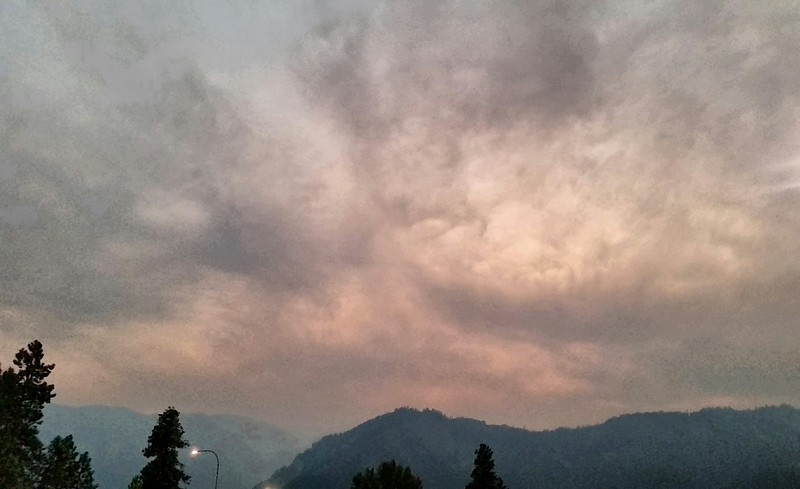 Ash Clouds - August 21 - Day before Enchantments Hike - Leavenworth, WA