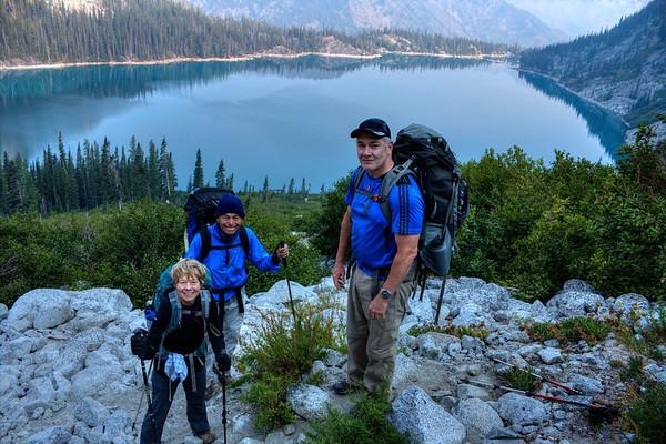 Elaine, Arnie, Mike - Above Colchuck on Asgaard - August 2015